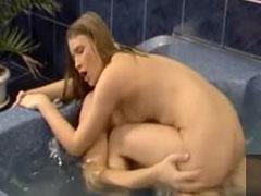 Heisser Fick in der Badewanne